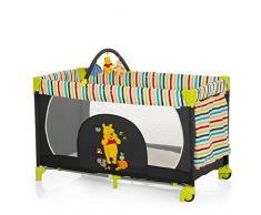Hauck Kinderreisebett Dream N Play Go Disney/ inklusive Rollen, Matratze und Tasche / 120 x 60cm / ab Geburt / tragbar und faltbar / Pooh Tidy Time (Schwarz)