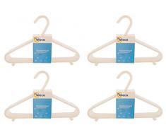 Bieco Kleiderbügel Kinder 32 St. Weiß | Länge ca. 30 cm | Baby Kleiderbügel | Kunststoff Kleiderbügel Kinder Baby | Baby Organiser Für Kleiderschrank | Kleiderbügel Baby | Baby Clothes Hangers