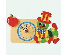 Dida - Analoge Tischuhr - Apfelraupe - Für Das Kinderzimmer, Den Nachttisch Oder Den Schreibtisch