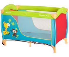 Hauck Sleep N Play Go Kindereisebett, inklusive Rollen, Matratze und Transporttasche, tragbar und klappbar, 120 x 60cm, grün-blau (jungle fun)