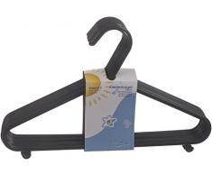 Bieco Kinder Kleiderbügel Kunststoff, Schwarz, 8 Stück