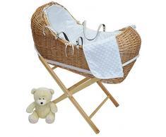 Weidenkorb für Babykörbe mit Matratze, Weiß