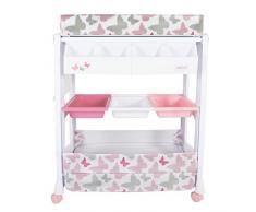 My Babiie MBCHPB Katie Piper Baby-Badewanne und Wickelkommode, Schmetterlingsmotiv, Pink