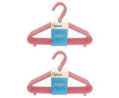 Bieco Kleiderbügel Kinder 16 St. Altrosa | Länge ca. 30 cm | Baby Kleiderbügel | Kunststoff Kleiderbügel Kinder Baby | Baby Organiser Für Kleiderschrank | Kleiderbügel Baby | Baby Clothes Hangers