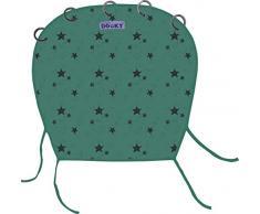 Original Dooky Universal Cover Green Star Sonnenschutz, Wetterschutz, TÜV getestet, universale Passform mit Klettband für Babyschale, Kinderwagen und Buggy, grün 126631