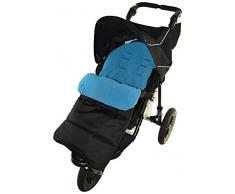 Fußsack/COSY TOES kompatibel mit Mountain buugy Terrain Kinderwagen Ocean Blau