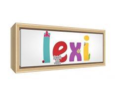 Little Helper LISA-COASTERANDPLACEMAT-15DE Personalisiert, Mädchenname Untersetzer und Platzdeckchen mit Hochglanz-Finish, Lisa