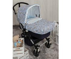 Babyline bgboo Spaziergänge von Toile Tagesdecke für Kinderwagen blau