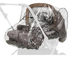 Playshoes 448963.0 Universal Regenverdeck, Regenschutz, Regenhaube für Zwillingswagen, transparent