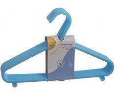 Bieco Kinder Kleiderbügel Kunststoff, hellblau, 32 Stück