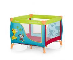 Hauck 606117 Sleep N Play SQ, leichtes quadratisches Baby-Laufgitter, Laufstall, Reisebett inklusive Matratze und Tasche, faltbar und tragbar, 90 x 90 cm, bunt