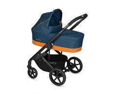 CYBEX Gold Kombikinderwagen Balios S mit Kinderwagenaufsatz Cot S, Ab Geburt bis 17 kg (ca. 4 Jahre), Tropical Blue