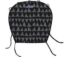 Original Dooky Universal Cover Black Tribal Sonnenschutz, Wetterschutz, TÜV getestet, universale Passform mit Klettband für Babyschale, Kinderwagen und Buggy, schwarz