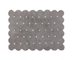 Lorena Canals Waschbarer Teppich Biscuit Natürliche Baumwolle -Grau- Weiß- 120x160 cm