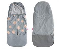 Fußsack aus SOFTSHELL für Buggy Kinderwagen Babyschale wasserdicht und winddicht- Kleckse apricot
