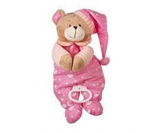 Spieluhr Nele zum Kuscheln und Einschlafen, der musikalische Teddy ist besonders weich und flauschig, als Einschlafhilfe oder Spielzeug, zum Aufhängen am Bettchen oder Kinderwagen