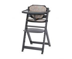 Safety 1st Timba Mitwachsender Hochstuhl und passendes Sitzkissen, inkl. abnehmbares Tischchen, hohe Rückenlehne, ab ca. 6 Monaten bis ca. 10 Jahre (max. 30 kg), Buchenholz, warm grey (grau)