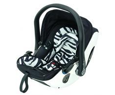 Kiddy 41920EV600 Evolution Pro 2 Babyschale, patentierte Liegefunktion, komfort Lattenrost, Isofix-fähig, Gruppe 0+ (0-13 kg, Geburt-ca. 15 Monate), Zebra (schwarz-weiß)