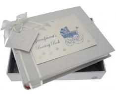 White Cotton Cards Kleines FotoalbumGrandparent s Boasting Book (blau Kinderwagen und Wimpelkette)