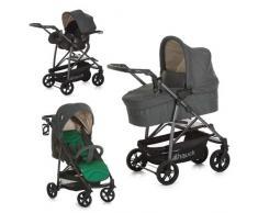 Hauck / Kombi Kinderwagen Set 3 in 1/ Rapid 4 S Plus Trio Set / inkl. Babyschale / Kinderautositz Gruppe 0 für Isofix Base / klein zusammenklappbar / ab Geburt bis 25 kg, Caviar Emerald (Grün)