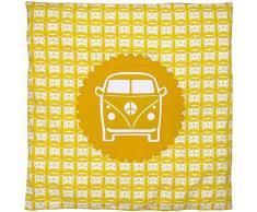 TAFTAN DD-917 Baby Bettwaesche das Auto für Wiege und Kinderwagen, 80 x 80 cm, gelb