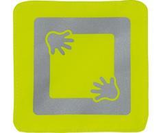 ABUS Kinderwagenreflektor Mike passend für Kinderwagen, Buggy, Anhänger - Befestigung via Klettverschluss - 2 Stück - gelb - 73159