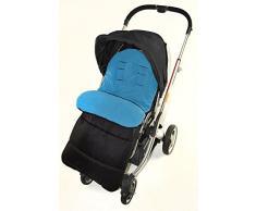 Fußsack/COSY TOES kompatibel mit Koochi LITESTAR Travel Kinderwagen Ocean Blau