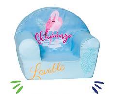 Delsit Kindersessel Babysessel Kinder Sitz Kindermöbel Spielzimmer Sitzsacke für Jungen und Mädchen Flamingo, blau
