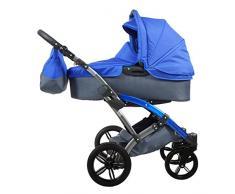 Knorr-Baby 3100-04 Kombikinderwagen Voletto Sport, grau-blau