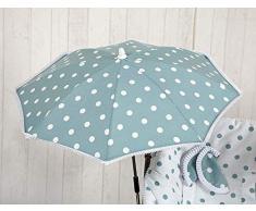 Babyline Karussell – Sonnenschirm für Kinderwagen grün getragen