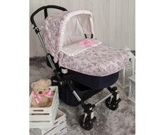 Babyline bgboo Spaziergänge von Toile Tagesdecke für Kinderwagen Rosa