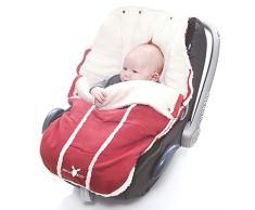 Wallaboo Fußsack, Universal für Babyschale, Autositz, z.B. für Maxi-Cosi, Römer, für Kinderwagen, Buggy oder Babybett, Farbe: Rot