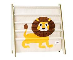 3 Sprouts Bücherregal Bücheraufbewahrung Löwe
