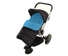 Fußsack/COSY TOES kompatibel mit Quinny Moodd Kinderwagen Ocean Blau