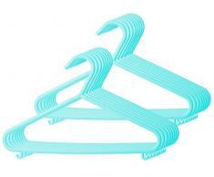 Bieco Kleiderbügel Kinder 16 St. Türkis | Länge ca 30 cm | Baby Kleiderbügel | Kunststoff Kleiderbügel Kinder Baby | Baby Organiser Für Kleiderschrank | Kleiderbügel Baby | Baby Clothes Hangers