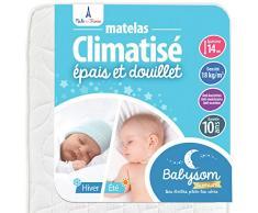 Babysom - Babymatratze   Kindermatratze Sommer/Winter - 60x120cm - Atmungsaktiv - Luftdurchlässiger Kaltschaum - Höhe 14cm