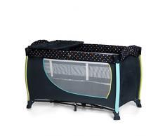 Hauck Sleep N Play Center II Kombi-Reisebett, inkl. Neugeborenen-Einhang, Wickelauflage, Rollen, Matratze, Tragetasche (höhenverstellbar und faltbar), multi dots navy (dunkelblau)