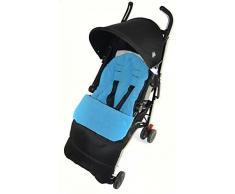 Fußsack/COSY TOES kompatibel mit Maclaren Techno Kinderwagen Ocean Blau
