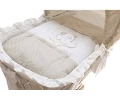 ITALBABY Sweet Star Bettbezug für Wiege, Taube grau