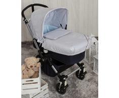 Babyline bgboo Praline Tagesdecke Kinderwagen grau