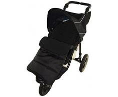 Fußsack/COSY TOES kompatibel mit Phil & Teds Vibe Kinderwagen black jack