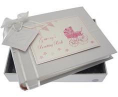 White Cotton Cards Kleines Fotoalbum Granny s Boasting Book (Rosa Kinderwagen und Wimpelkette)