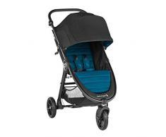 Baby Jogger City Mini Gt2, leichter Kinderwagen für Jedes Gelände, Schneller Einhand-Faltmechanismus, Mystic (schwarz/Türkis)