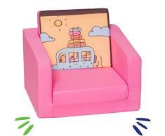 Delsit Kindersessel zum Ausklappbare Kinder Sessel Baby Sessel Spielzimmer Kindermöbel für Jungen und Mädchen, Camping, rosa