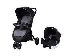 Safety 1st Urban Trek Buggy, sportlicher Kinderwagen mit Liegeposition, nutzbar ab 6 Monaten bis ca. 15 kg, ink. Passender Babyschale für die Nutzung ab der Geburt, Schwarz