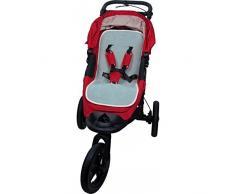 Popolini Gymnastikmatte mit Netztasche für Kinderwagen hellblau