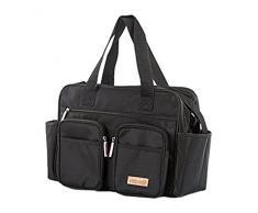 Chipolino Wickeltasche für Kinderwagen, Größe 35 * 28 * 15 cm, schwarz
