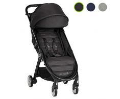 Baby Jogger City Tour 2 Buggy, kompakt, leicht, zusammenklappbar & tragbar Kinderwagen, Jet (Schwarz)