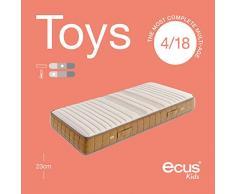 Ecus Kids Die Matratze für Kinder mit mehreren Etagen - Toys - Kindermatratzen 190x105