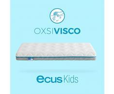 Ecus Kids, Matratze für das Babybett Oxsi Visco: Die viscoelastische Babymatratze - 120x60x12